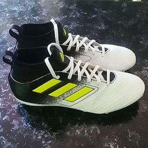 Adidas Soccer Cleats Boots Socks Male 5.5 White